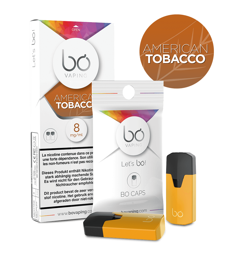 Картриджи Bo Caps American Tobacco для электронных сигарет Bo One, Bo TC, Bo+ plus, Bo vaping