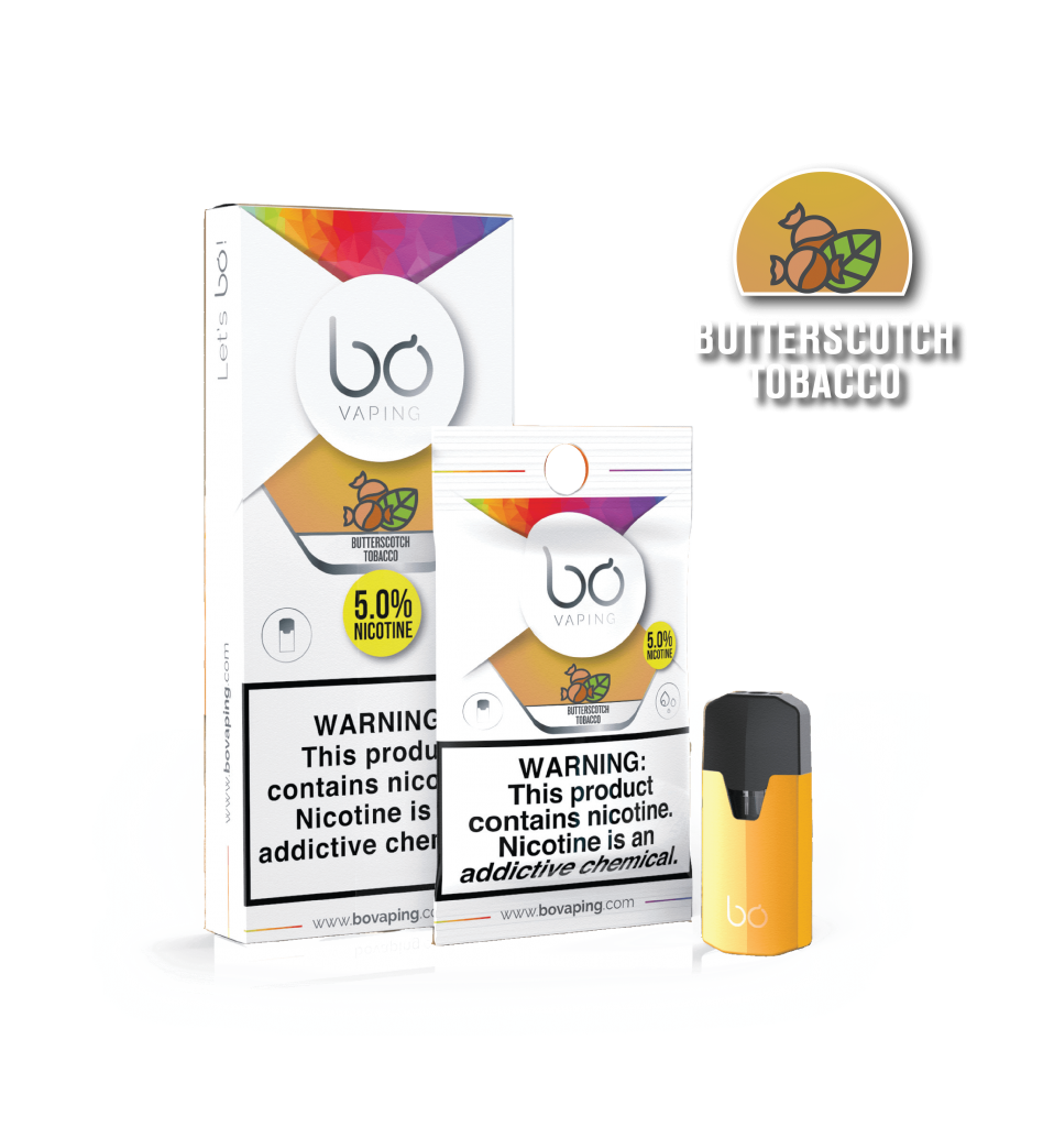 Картриджи Bo Caps Butterscotch Tobacco для электронных сигарет Bo One, Bo TC, Bo+ plus, Bo vaping