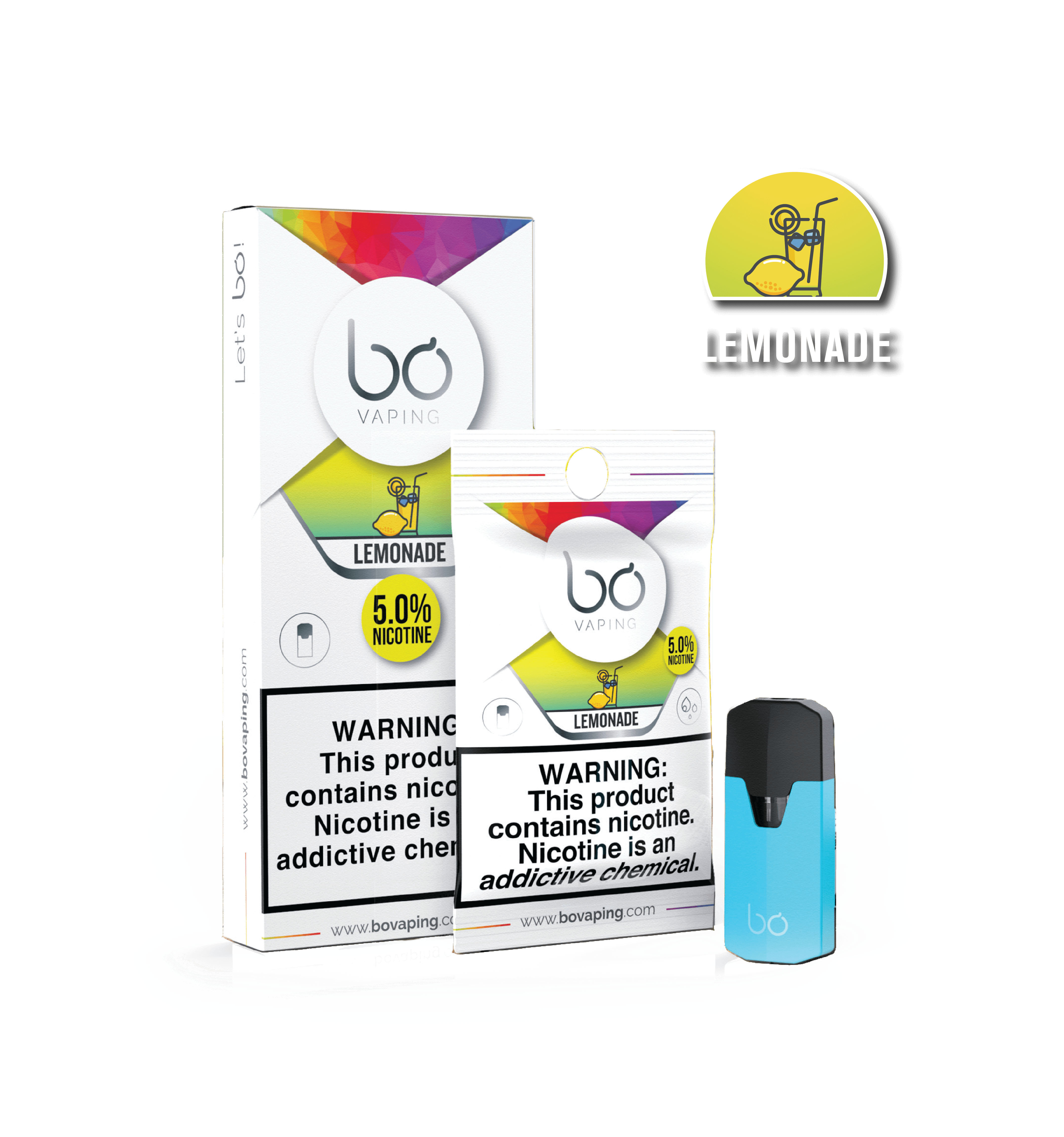 Картриджи Bo Caps Lemonade для электронных сигарет Bo One, Bo TC, Bo+ plus, Bo vaping